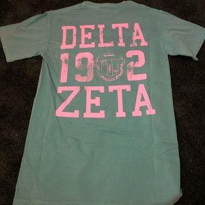 Delta Zeta Comfort Colors Tee Shirt - Brand New!